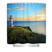 Cape Tryon Lighthouse Shower Curtain