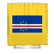 Cape Verde Flag Shower Curtain