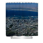 Capetown South Africa Aerial Shower Curtain