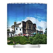 Capilla Del Cerrito - Basilica De Guadalupe - Mexico City Shower Curtain