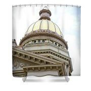 Capital Building Dome Cheyenne Wyoming Vertical 02 Shower Curtain