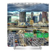 Capital Of The South Atlanta Skyline Cityscape Art Shower Curtain