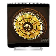 Capital One Bank Building Dome Shower Curtain