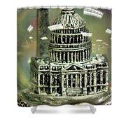 Capital Snow Globe  Shower Curtain