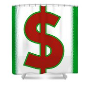 Capitalist Dollar Shower Curtain