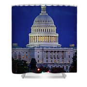 Capitol At Dusk Shower Curtain