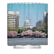 Capitol Blossoms Shower Curtain