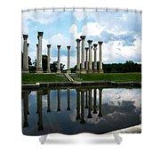Capitol Columns, National Arboretum Shower Curtain