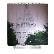 Capitol In Pink Shower Curtain