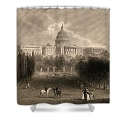 Capitol Of The Unites States, Washington D C Shower Curtain