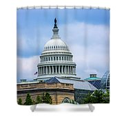 Capitol Over The Botanical Garden Shower Curtain