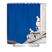 Capitol Statues - Madison Wisconsin-1 Shower Curtain
