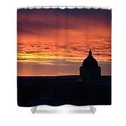 Capitol Sunset Shower Curtain