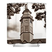 Capitol Time - Sepia Shower Curtain