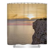 Capo Caccia's Cliff Shower Curtain