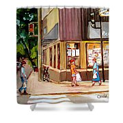 Cappucino  Cafe At Beauty's Restaurant Shower Curtain