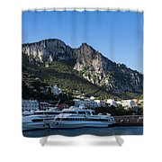 Capri Island Harbor  Shower Curtain
