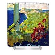 Capri, Italy, Italian Riviera, Scenery Shower Curtain