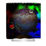 Caprica Over The Waters Shower Curtain