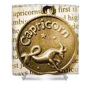 Capricorn Zodiac Lucky Charm Shower Curtain