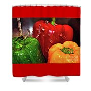 Capsicum In The Wash Shower Curtain