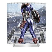 Captain America Shower Curtain