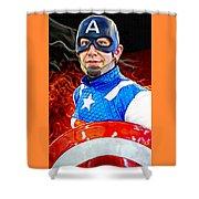 Captain America Super Hero Shower Curtain