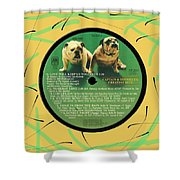 Captain And Tennille Greatest Hits Lp Label Shower Curtain