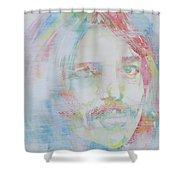 Captain Beefheart - Watercolor Portrait.6 Shower Curtain