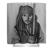 Captain Jack  Shower Curtain