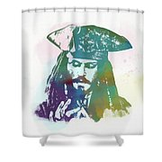 Captain Jack Sparrow Shower Curtain