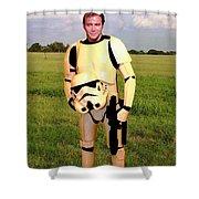 Captain James T Kirk Stormtrooper Shower Curtain