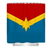 Captain Marvel Logo Shower Curtain