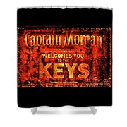 Captain Morgan The Florida Keys Shower Curtain