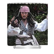 Captain Sparrow Shower Curtain
