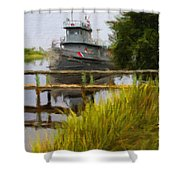 Captains Boat Shower Curtain