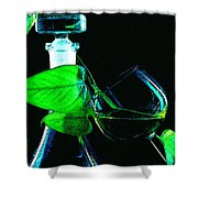 Captains Decanter Shower Curtain by Paul Wear