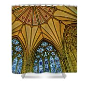Chapter House Ceiling, York Minister Shower Curtain