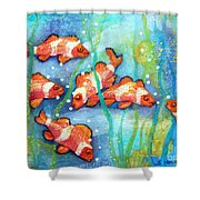 Captivating Clown Fish Shower Curtain