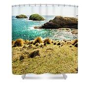 Captivating Coastal Cliff Shower Curtain