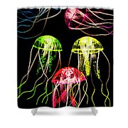 Captivating Connectivity Shower Curtain