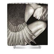 Captivity Shower Curtain by Pat Erickson