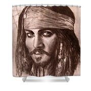 Capt.jack Shower Curtain by Jack Skinner