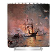 Capture Of New Orleans By Union Flag Officer David G Farragut Shower Curtain