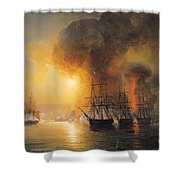 Capture Of The Fort Of Saint Jean Dulloa On 23rd November 1838 Shower Curtain