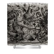 Captured Chariot Shower Curtain