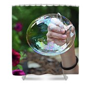 Capturing A Bubble Shower Curtain