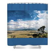 Capulin Volcano View New Mexico Shower Curtain