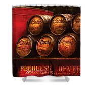Car - Truck - Beer Truck Shower Curtain by Mike Savad