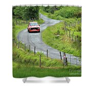 Car 88 Donegal International Rally Shower Curtain